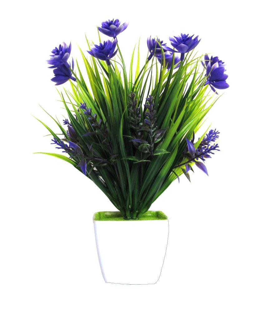 Miracle Retail Wild Plant Blue Bonsai Plastic with Pot
