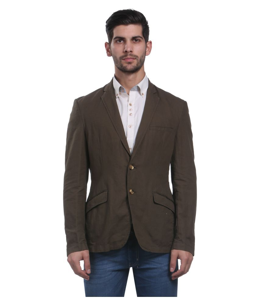 Park Avenue Brown Solid Formal Blazers