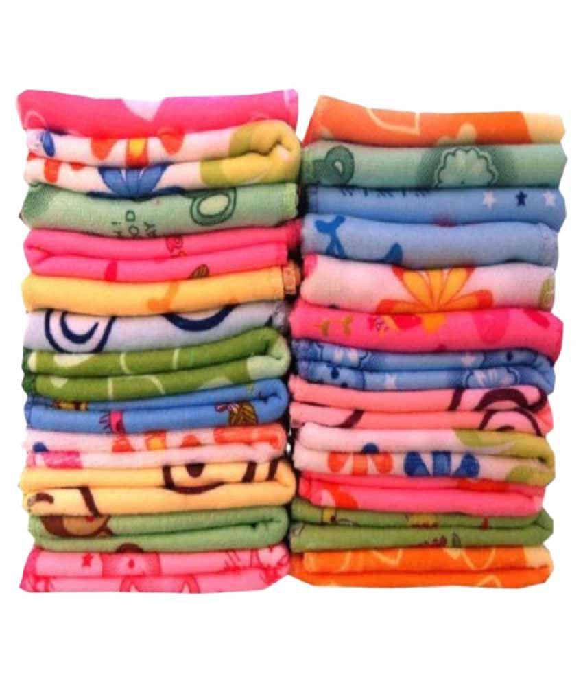 Z decor set of 25 face towel multi buy z decor set of 25 for Decor 8 piece lunch set