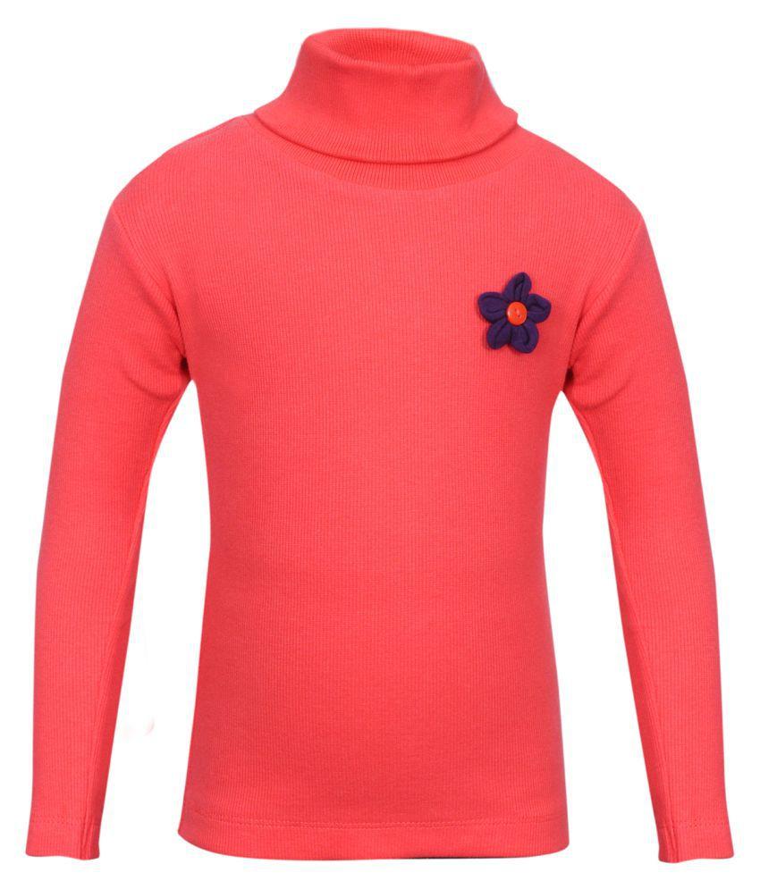 Bio Kid Orange Cotton Blend Sweatshirt