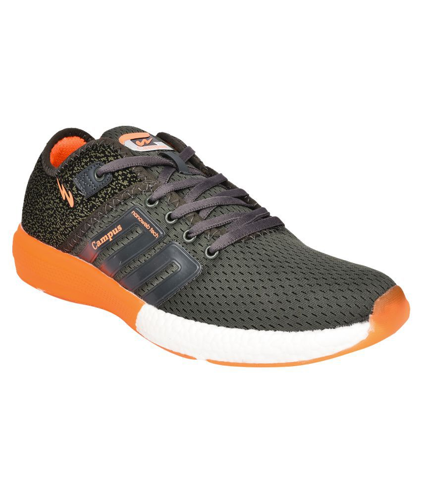 Campus Battle Gray Running Shoes