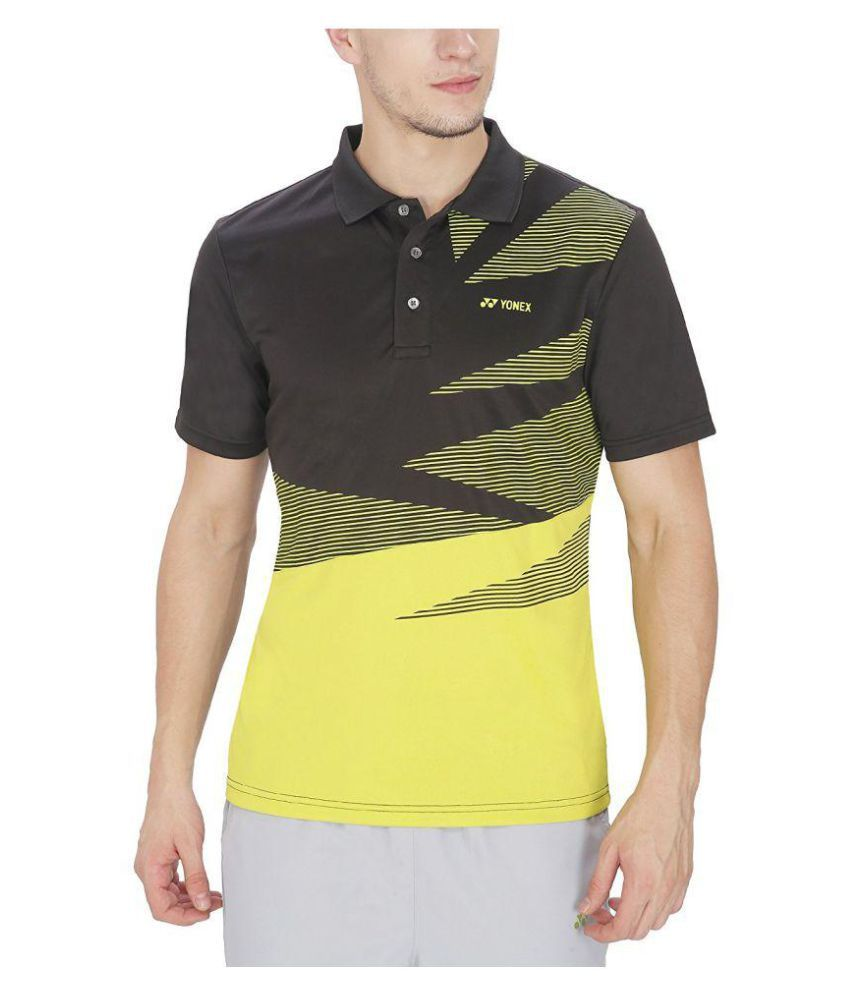 Yonex Multi Polyester Lycra Polo T-Shirt Single Pack