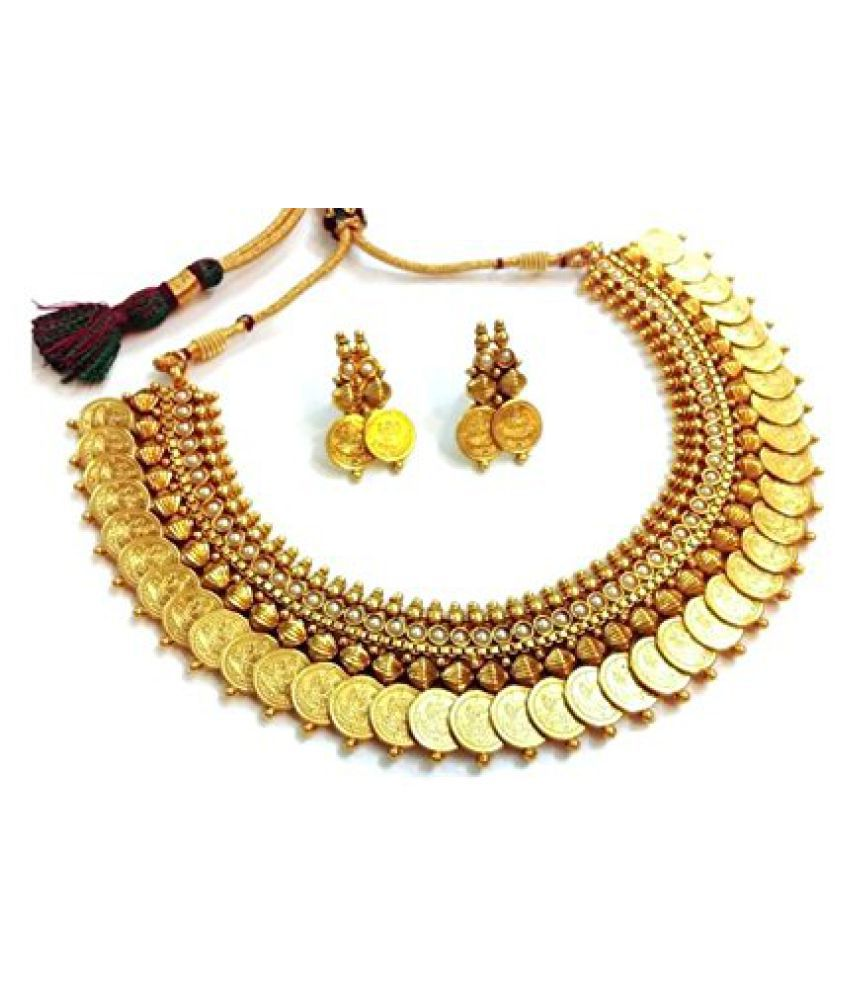 YouBella Gold Plated Necklace Set