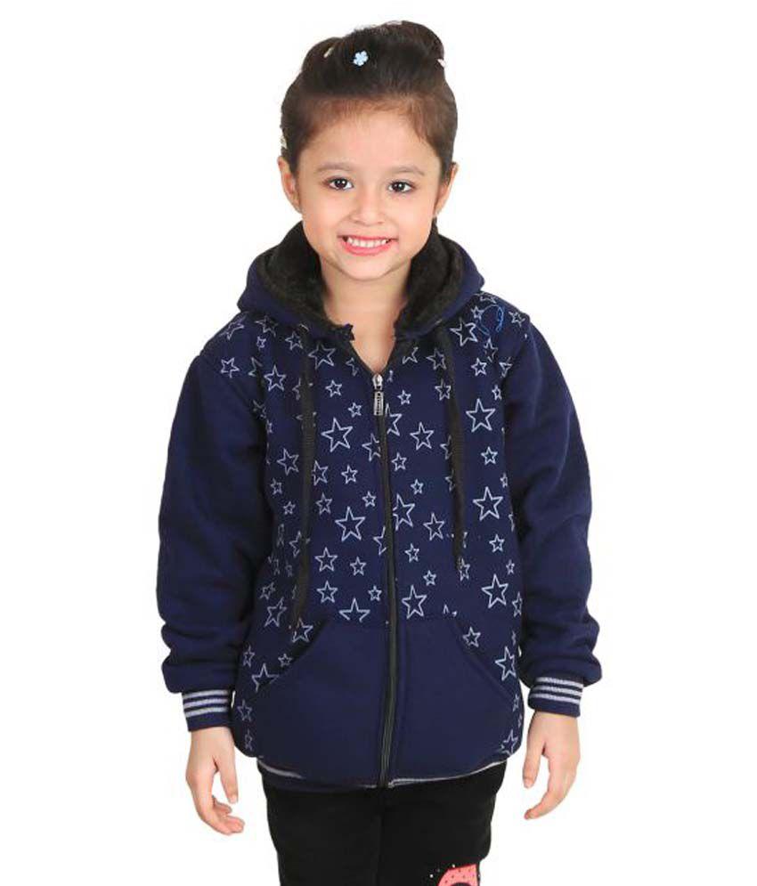 Crazies Dark Blue Jacket's for Girl's