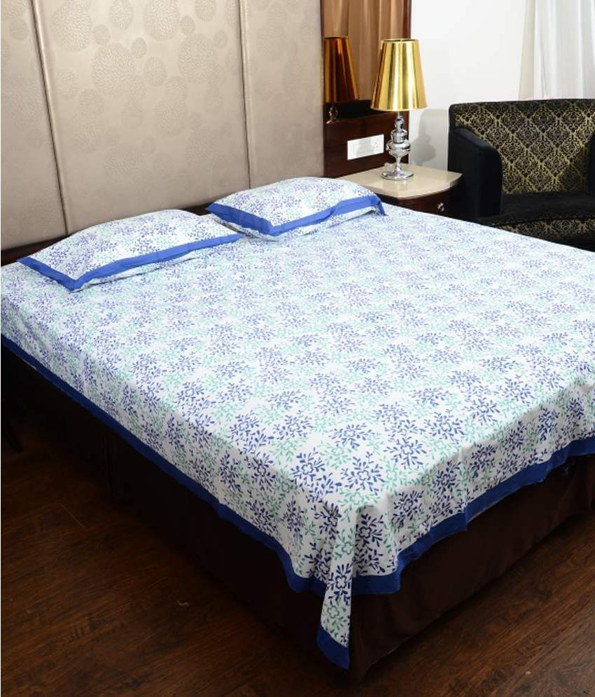 Uniquechoice King Cotton White Traditional Bed Sheet