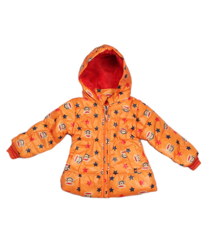 Greentree Orange Girls Bomber Jacket