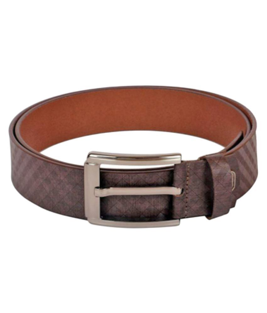 Hide Bulls Brown Leather Casual Belts