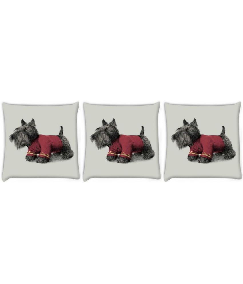 Snoogg Set of 3 Polyester Cushion Covers
