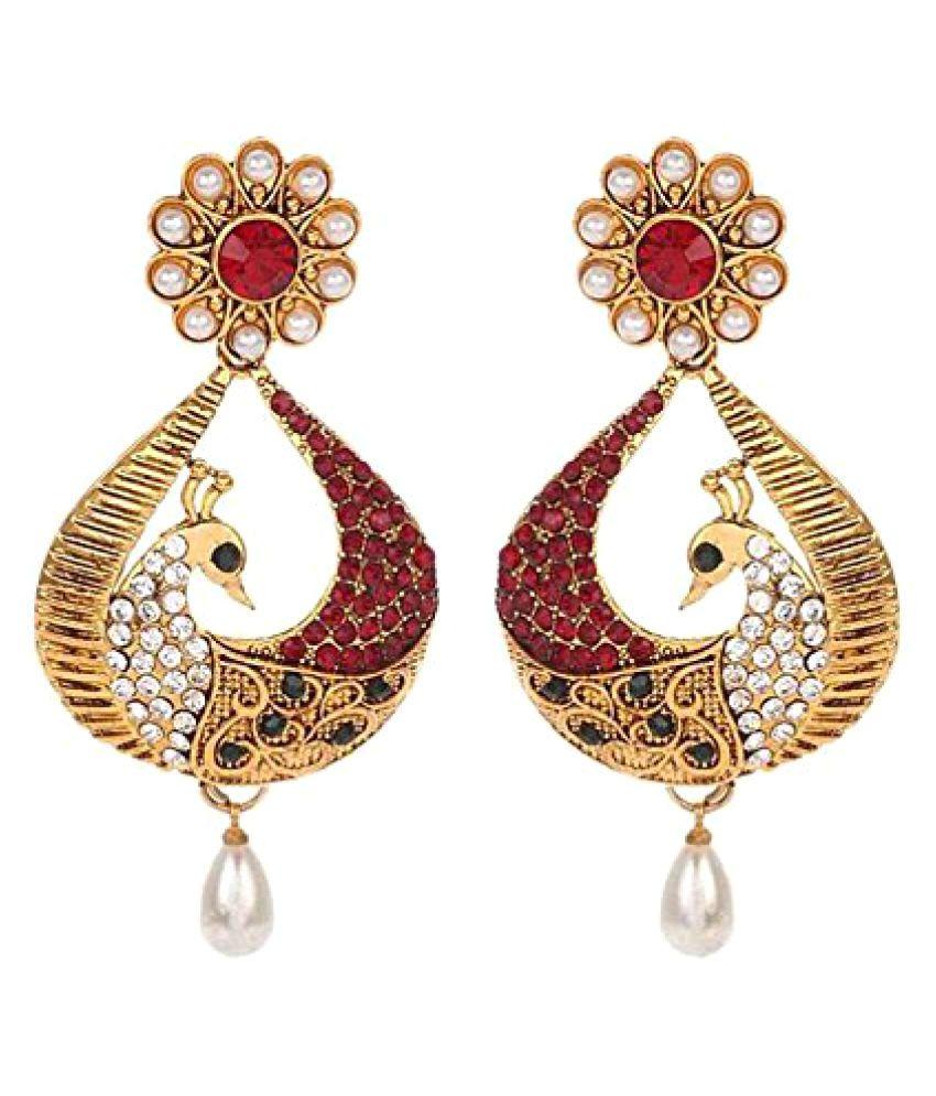 YouBella Golden Drop Earrings