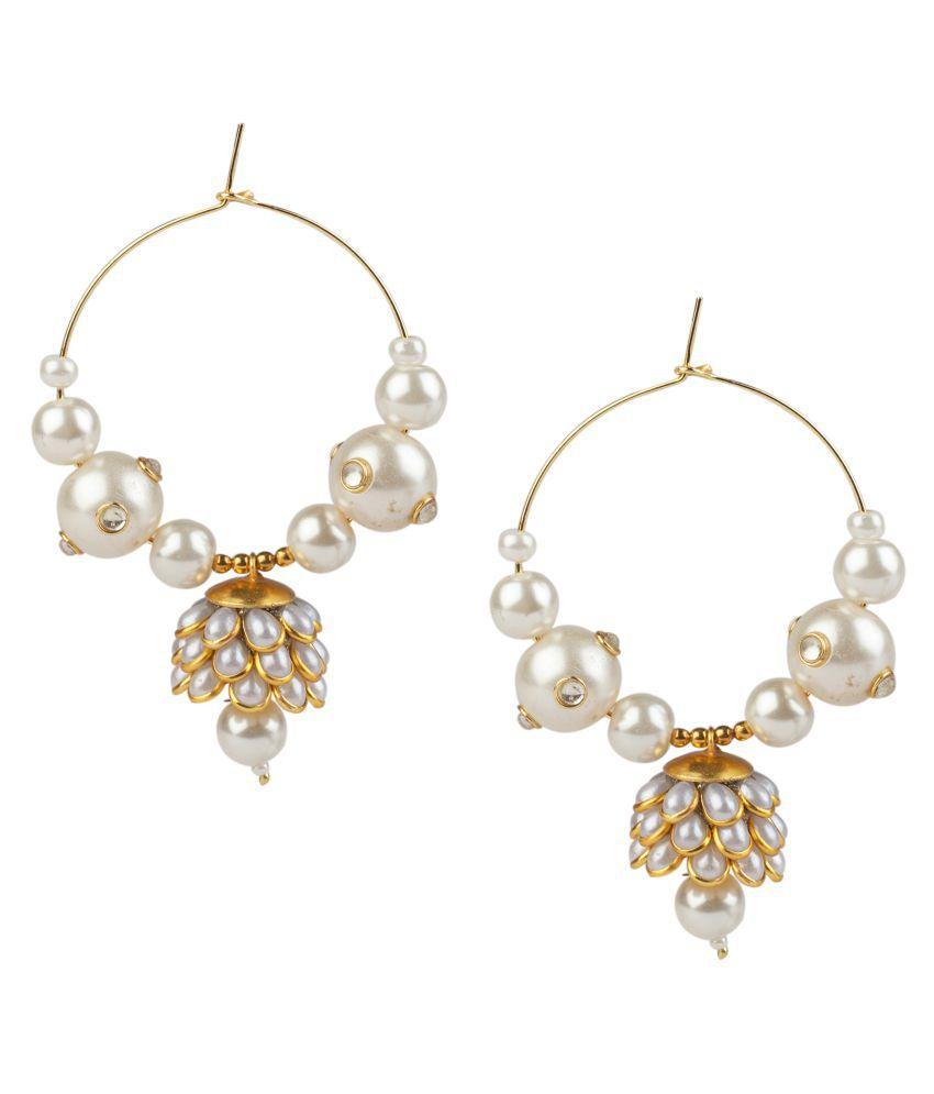 Makezak White Brass Earrings