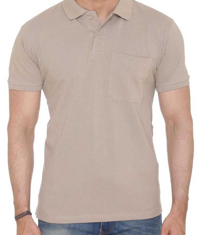 935959623dc6 Colors & Blends Beige Regular Fit Polo T Shirt - Buy Colors & Blends ...