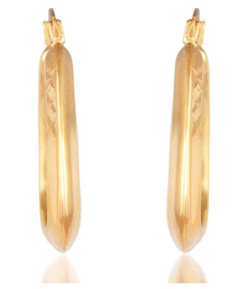 Kashvi Brass Hoops Earrings