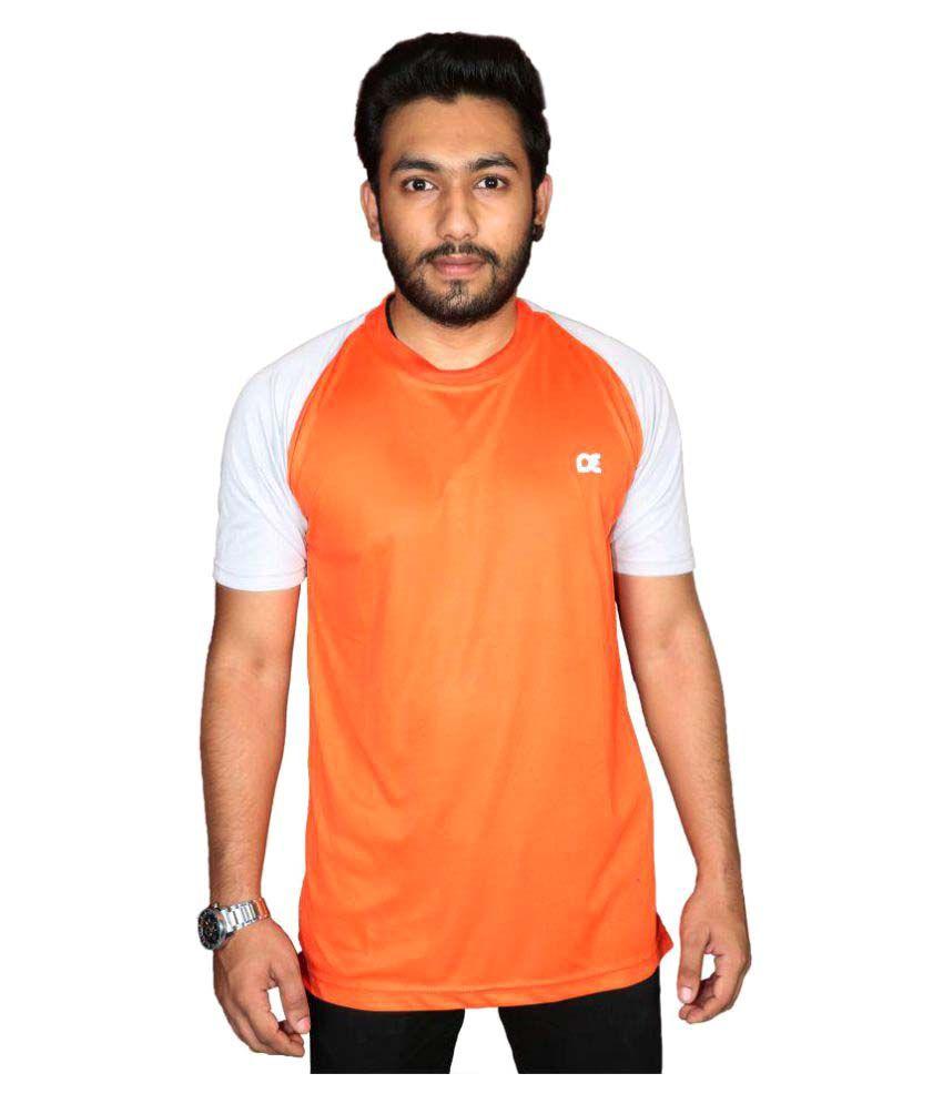 Dyed Colours Orange Round T-Shirt