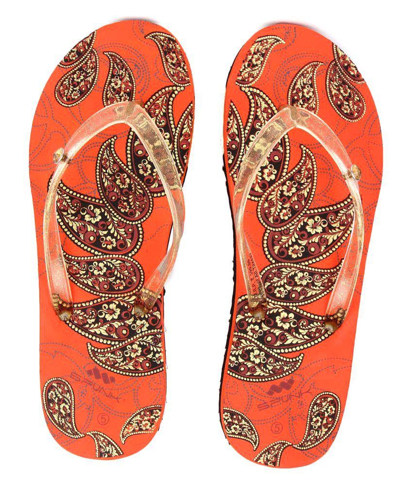 SPUNK Orange Slippers