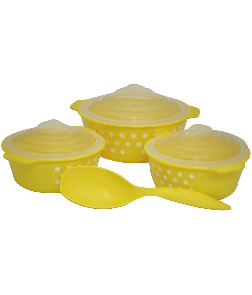 Csm Oven Cook Microwave Safe Serving Bowls With Spoon Yellow
