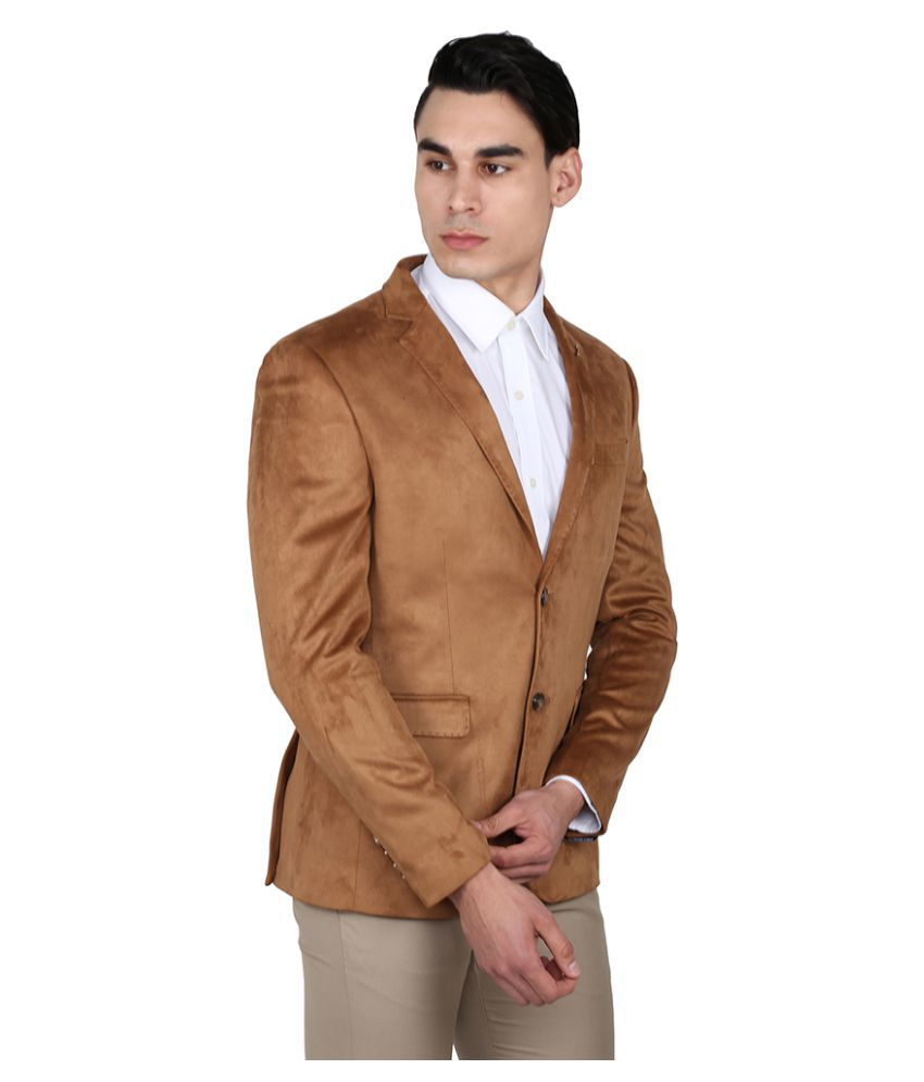 58452ae87cd9 Arrow Brown Solid Casual Blazers Arrow Brown Solid Casual Blazers ...