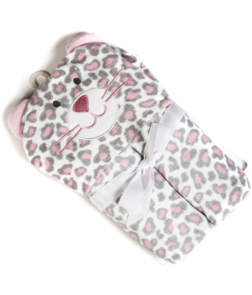 Baby Oodles Pink Cotton Bath Towels 1 Baby Towel