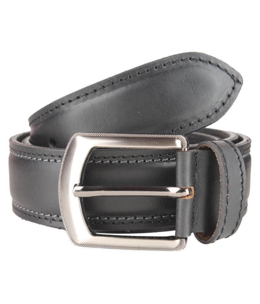 Umda Black Leather Casual Belts