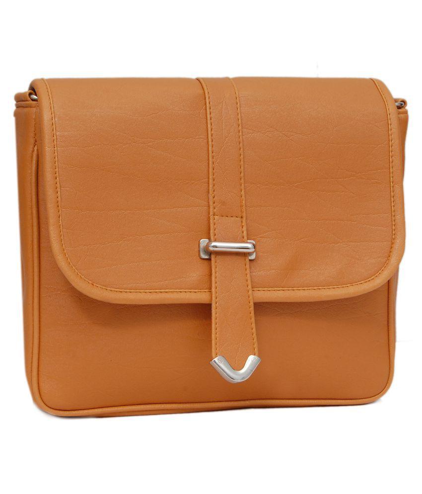 Borse Tan P.U. Sling Bag