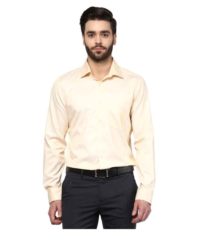 Turtle Yellow Formal Slim Fit Shirt