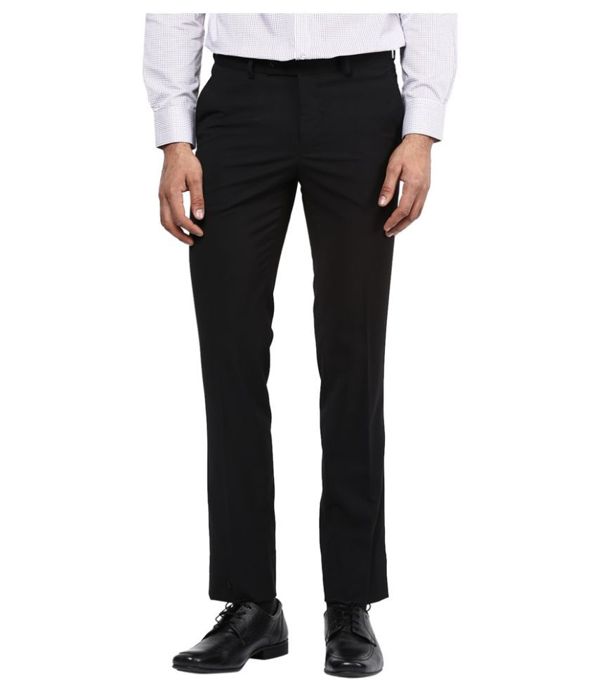 Turtle Black Slim Flat Trouser
