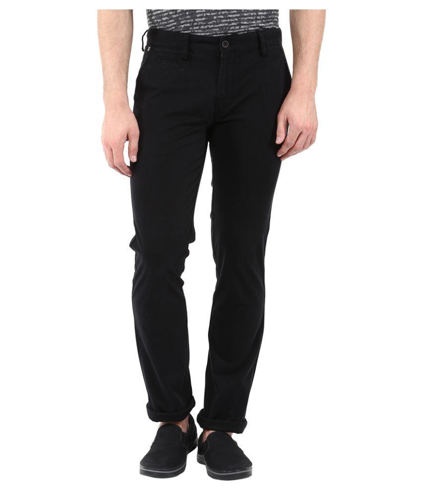 London Bridge Black Slim Flat Trouser