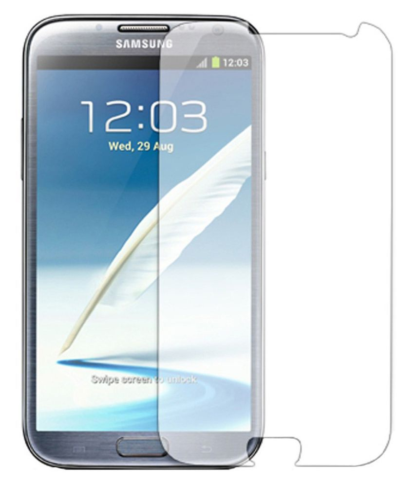 Samsung Galaxy Note 2 Tempered Glass Screen Guard By Tempered glass hd