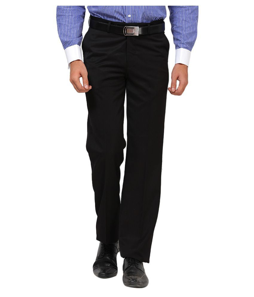 Turtle Black Slim Flat Trouser