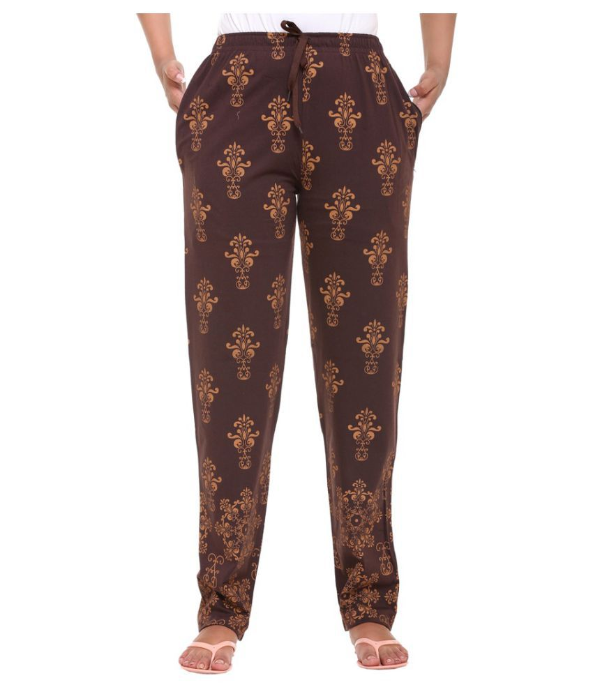 bbc93422160d Buy Colors   Blends Brown Cotton Pajamas Online at Best Prices in India -  Snapdeal
