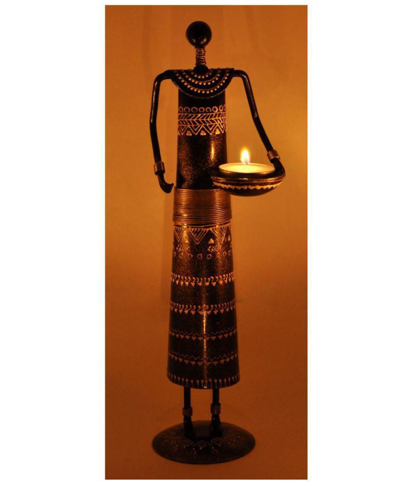 lal haveli decorative iron candle stand showpiece tea light holder rh snapdeal com