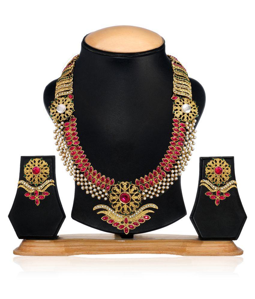 Zaveri Pearls Designer Pearl Necklace Set