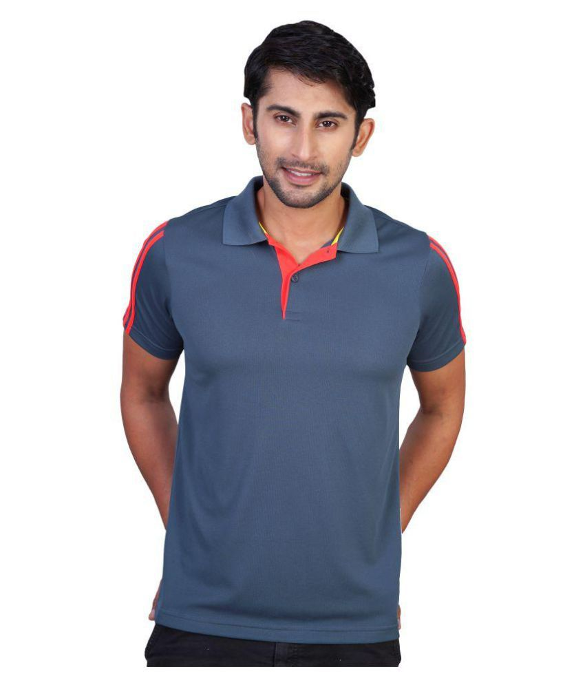 Adidas Grey Regular Fit Polo T Shirt