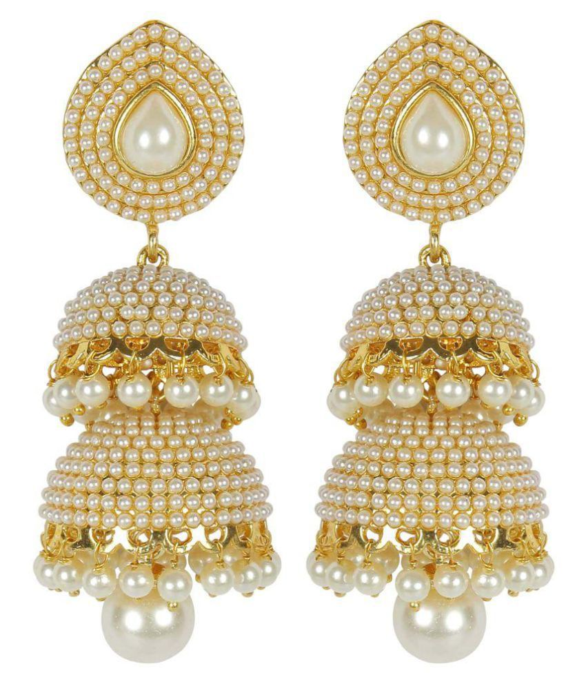 Much More Golden Design Jhumki Earring Jewelry for Daily Wear