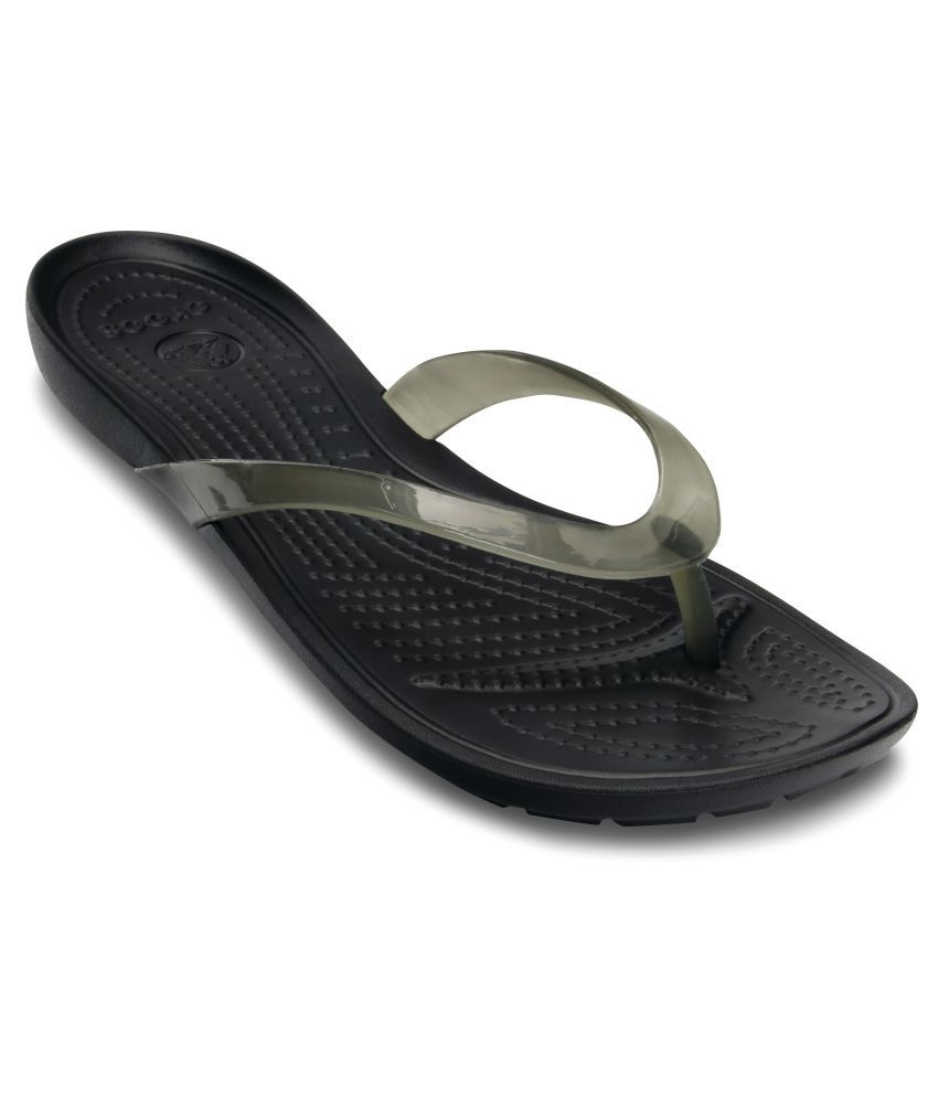 Crocs Black Slippers