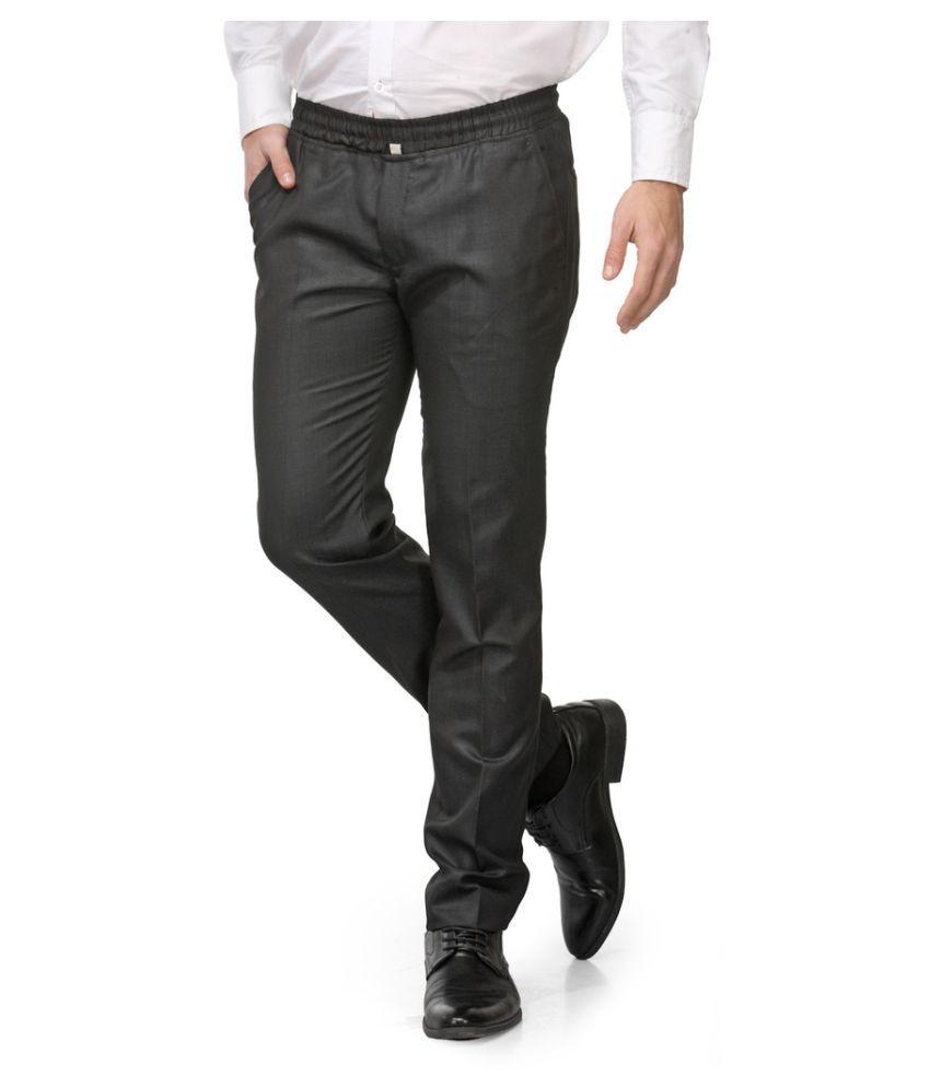 Harvest Black Slim Flat Trouser