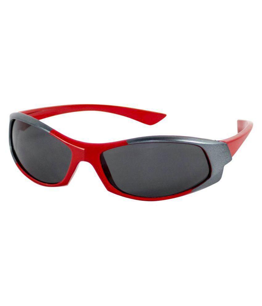 Amour Black Wrap Around Sunglasses
