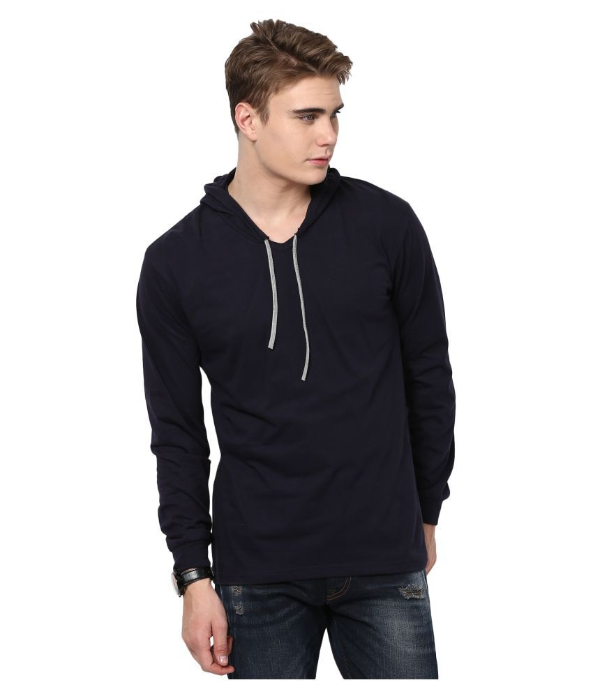 KatsoDesigns Navy Hooded T-Shirt