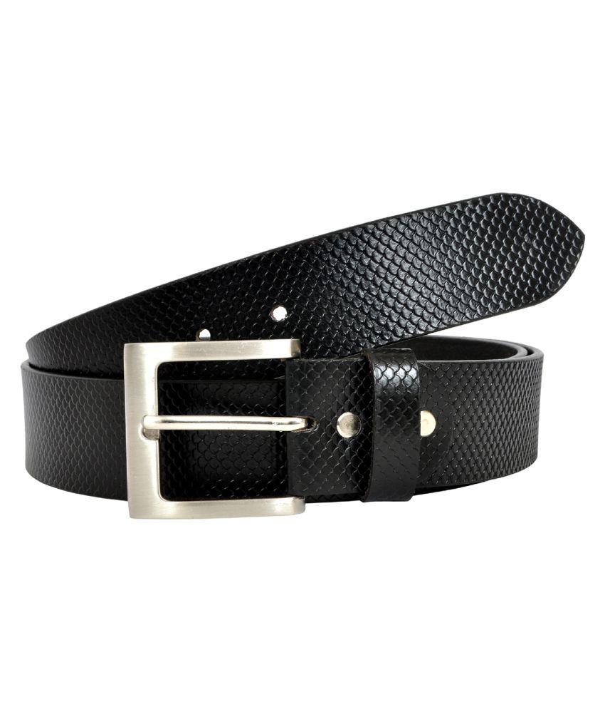 Divoto Black Leather Formal Belts