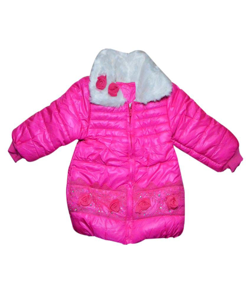 Winter Fuel Pink Polyester Jacket