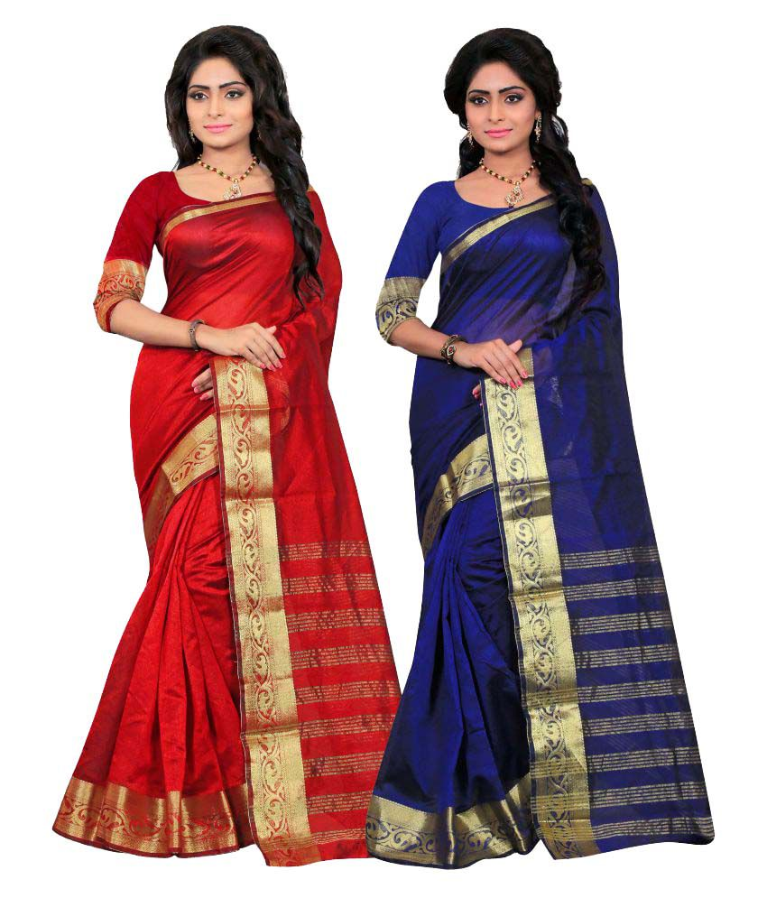 Jayant Creation Multicoloured Art Silk Saree Combos