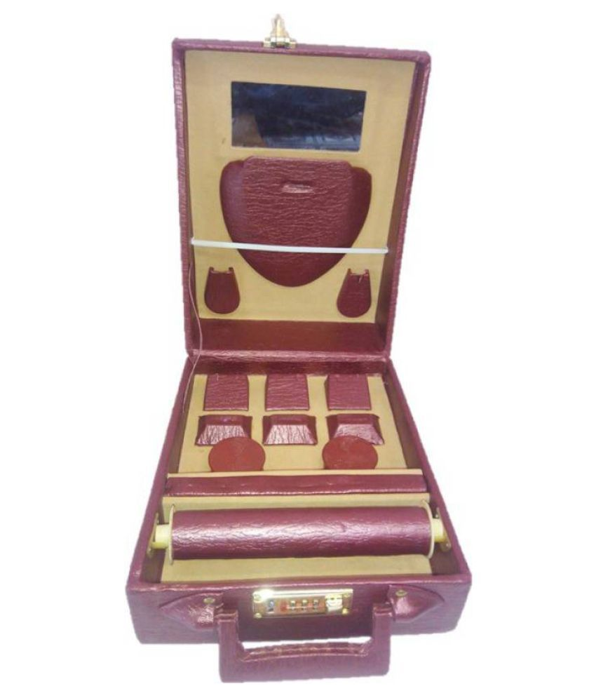 LNC Maroon Multipurpose Vanity and Jewellery/Bangle Boxes for Women