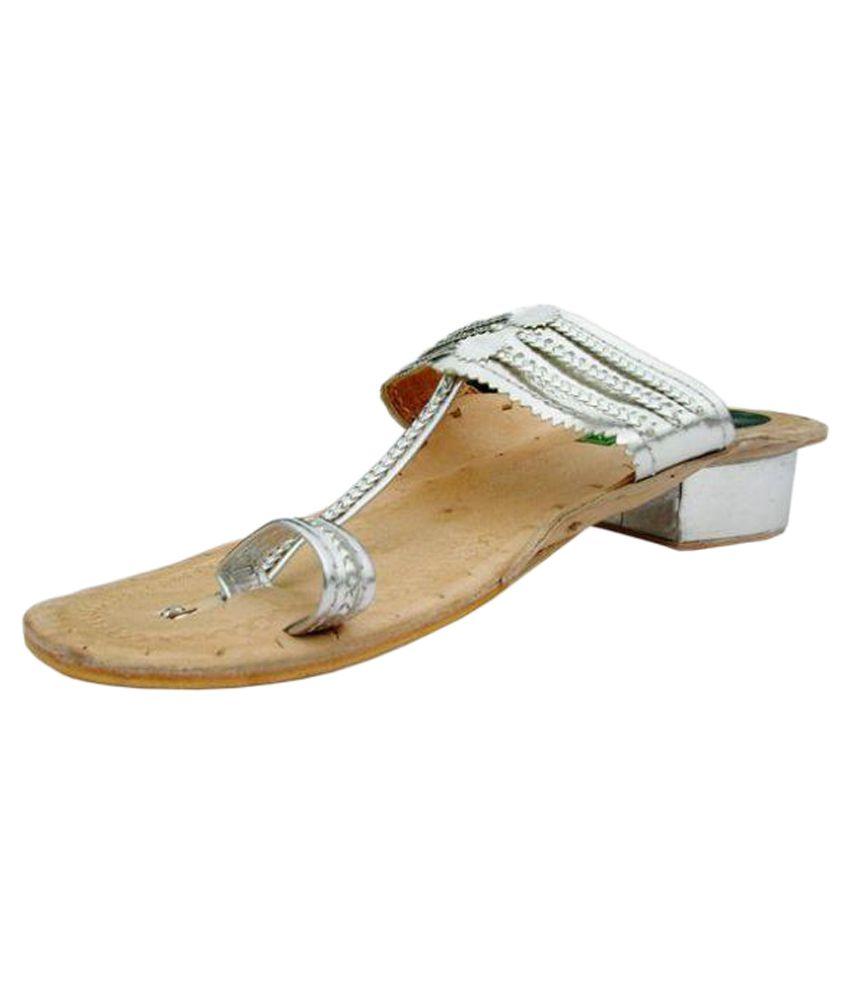 Marc One Silver Block Ethnic Footwear