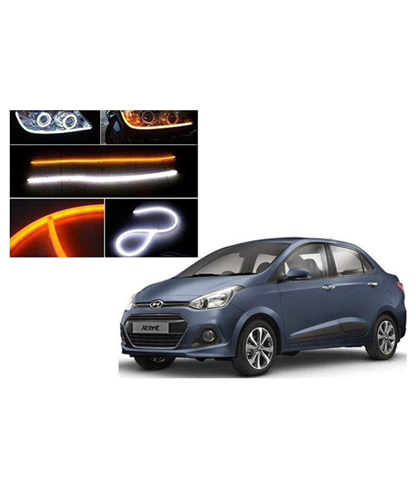 Carsaaz Dual Color Headlight Neon For Hyundai Xcent White Yellow