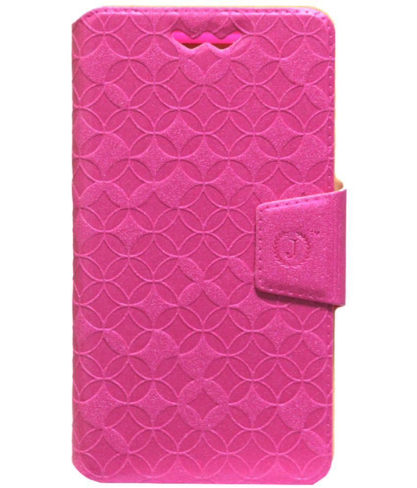 Vivo X7 Plus Flip Cover by Jojo - Pink