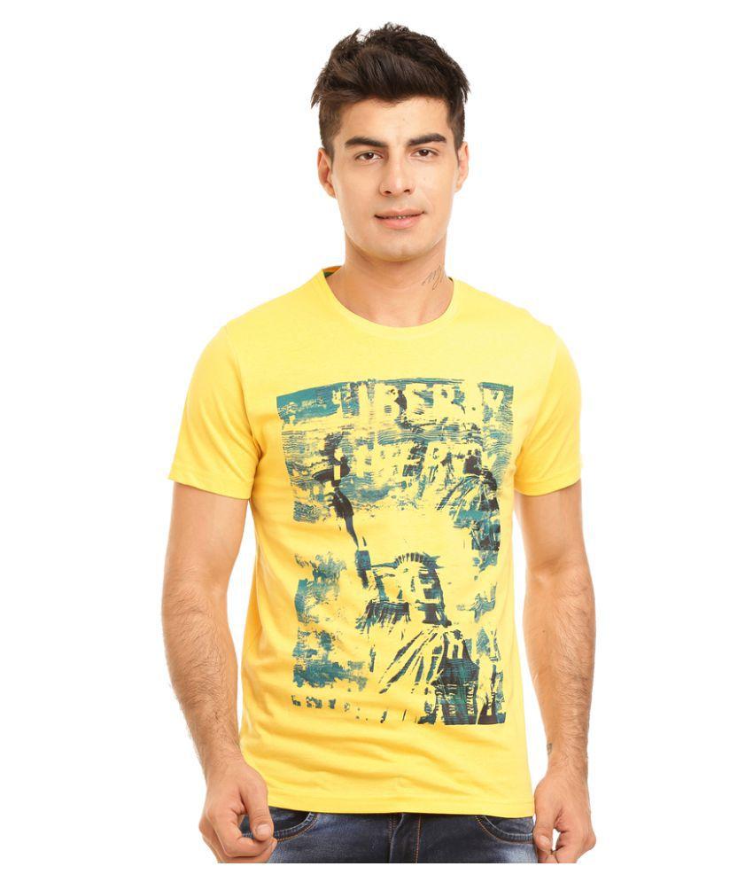 HOLS Yellow Round T-Shirt