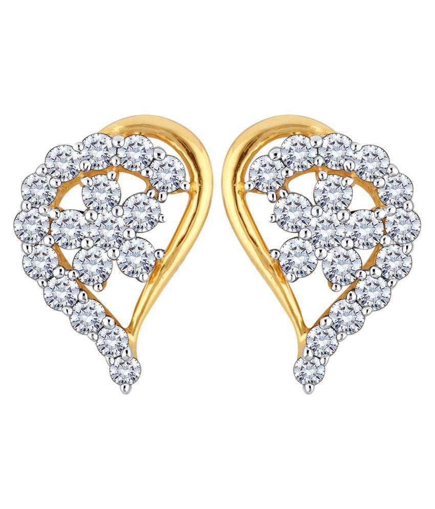 Myzevar 18K White Gold Diamond Studs