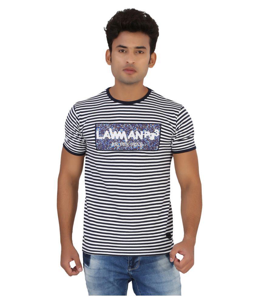 Lawman White Round T-Shirt
