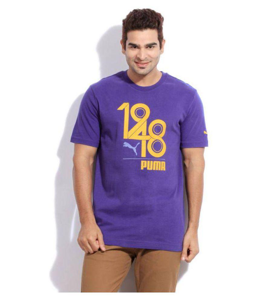 Puma Purple Round T-Shirt