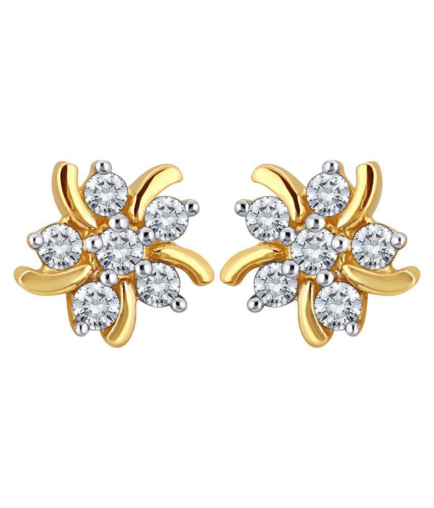 Myzevar 14K White Gold Diamond Studs