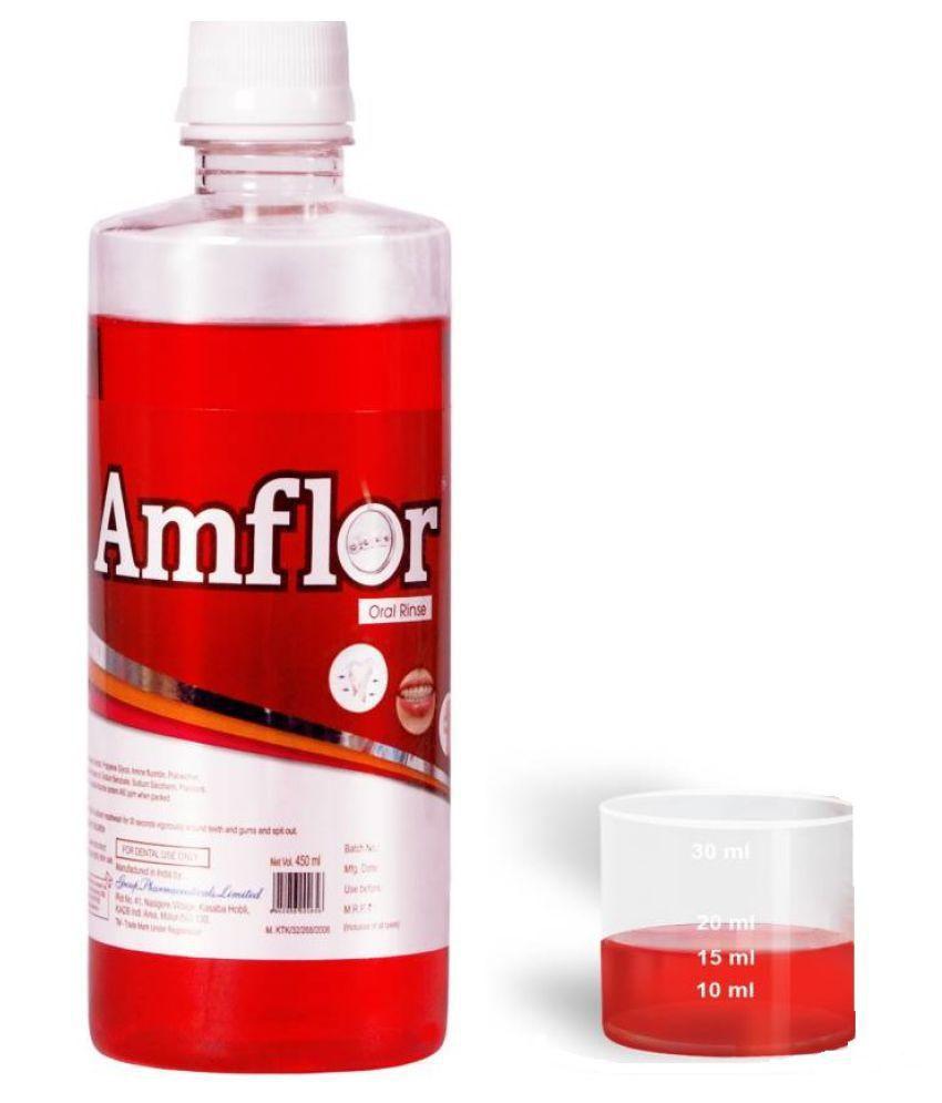 Amflor Oral Rinse Mouthwash - 450ml
